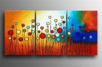 3 Piece Wall Art Hand Painted Modern Abstract Oil Painting ...