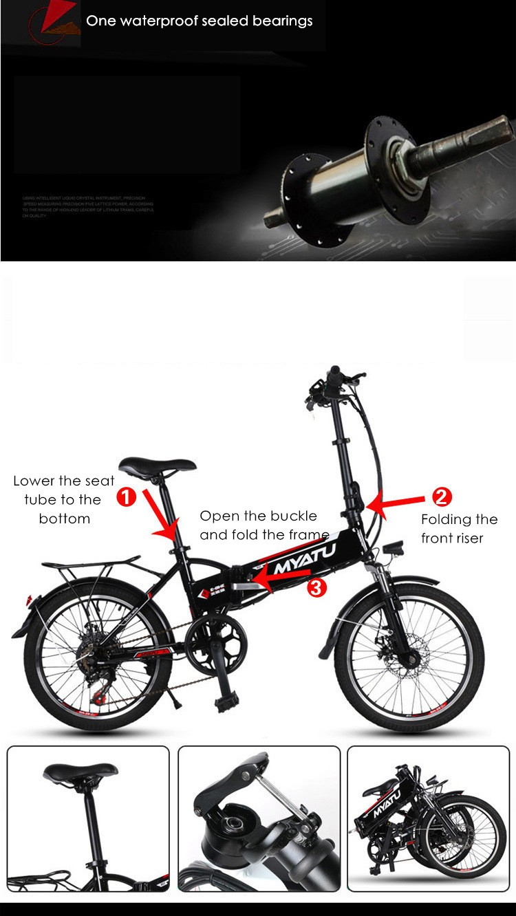 HTB1FH7VNVXXXXafaFXXq6xXFXXXb - New X-front model Aluminum body 20 inch electrical bike 6 pace folding mini ebike 250W lithium battery electrical bicycle