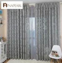 Modern decorative curtains jacquard gray curtains window ...