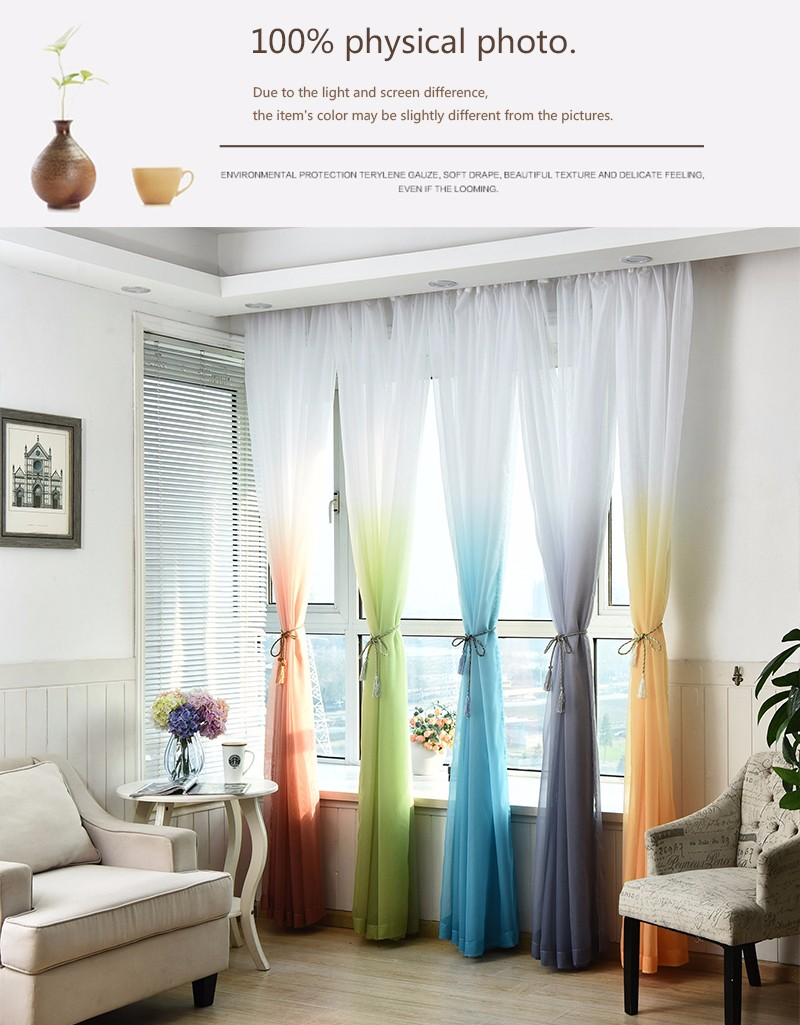 2019 Tulle Curtains 3d Printed Kitchen Decorations Window Treatments American Living Room Divider Sheer Voile Curtain Single Panel From Sophine11