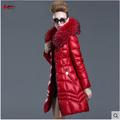 Europe North Winter Women Long Down Jackets and Coats Luxury Raccoon Fur Womens Parka ukraine abrigos