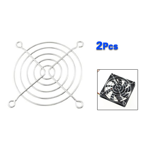 ⑦GTFS-New 2 Pcs ᐅ Silver Silver 8cm Computer PC Case ༼ ộ_ộ