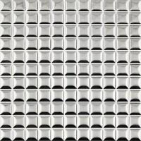 Silver bread 1x1 kitchen backsplash tile ceramic mosaic ...
