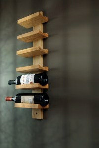 American modern wine rack IKEA creative wrought iron wood ...
