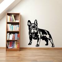 Cutom Color FRENCH BULLDOG DOG vinyl wall art sticker ...