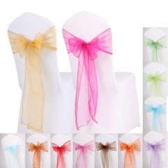 Butterfly Chair Covers Diy Best Small Gaming 50pcs Wedding Sashes Bow Ribbon Party Banquet Decor ...