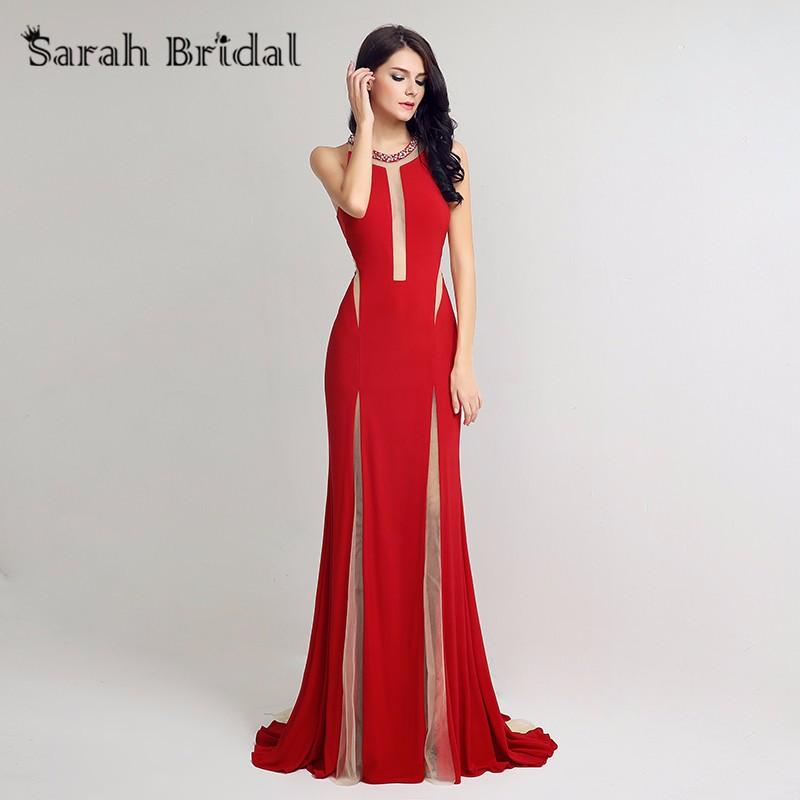 fb70b1661ea ᐃРусалка красного цвета пикантные Длинные вечернее платье Вечерние ...