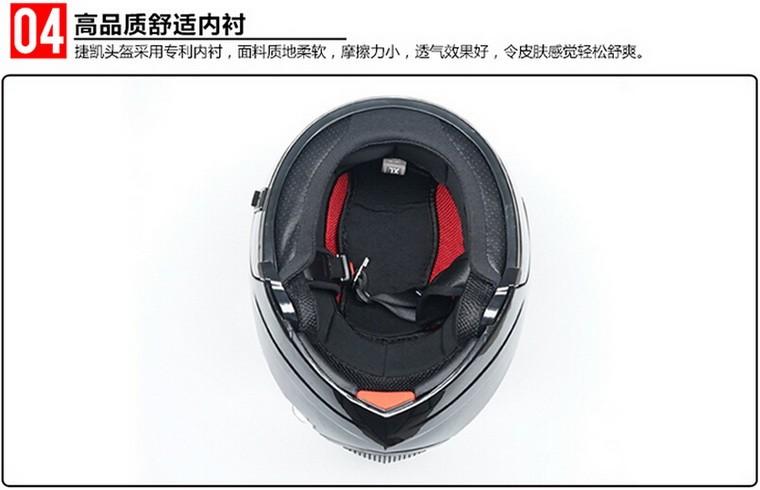 JIEKAI lentes duplas JK111 undrape rosto capacete da motocicleta ... 69678cc75d