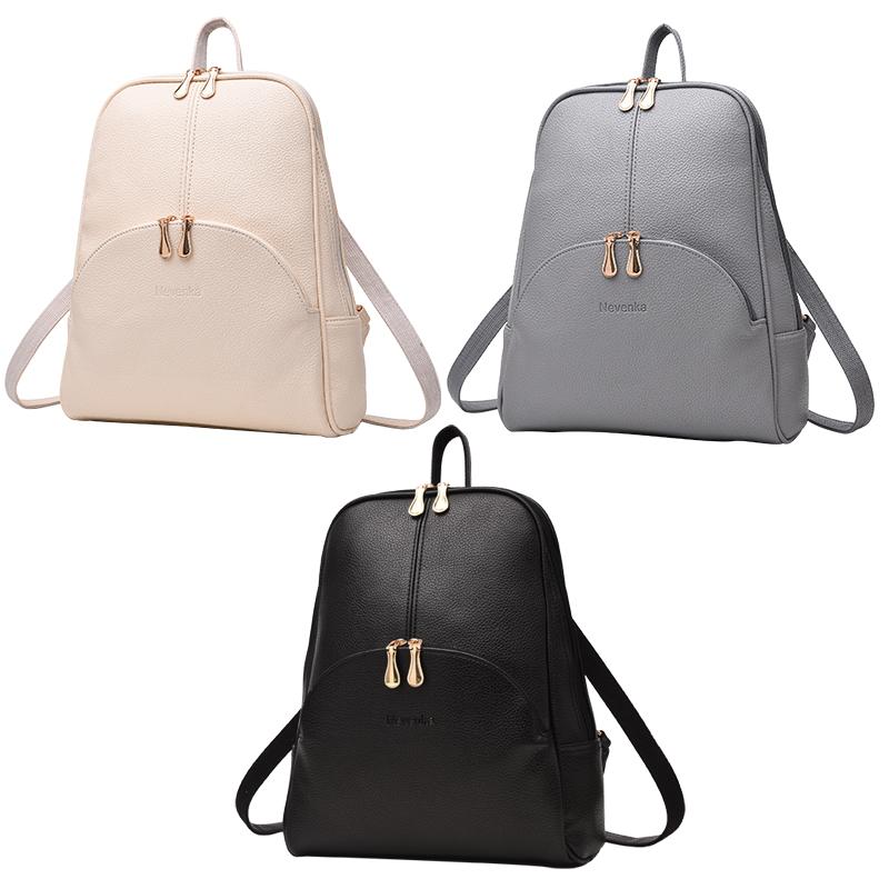 636317081bd1 ̿̿̿(•̪ )Nevenka Women Backpack Leather Backpacks Softback Bags Brand ...