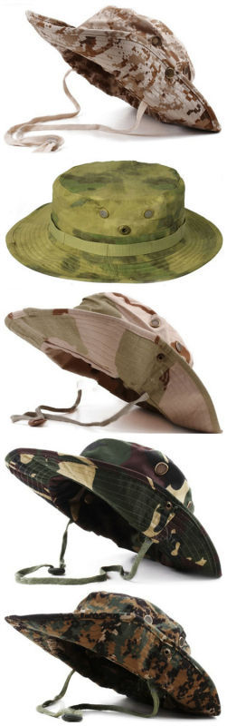 e191bb551e3 Tactical Airsoft Sniper Camouflage Boonie Hats Nepalese Cap ...