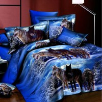 Popular Wolf Bedding Sets Full-Buy Cheap Wolf Bedding Sets ...