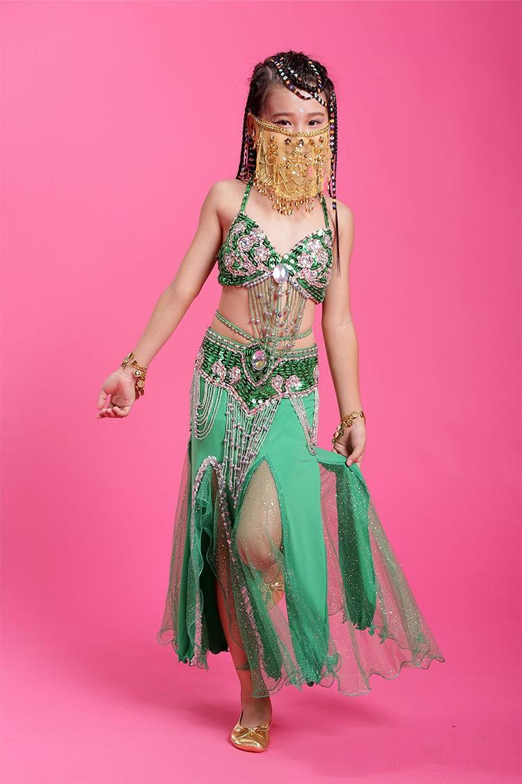ộ_ộ ༽2018 Niñas conjunto traje de la danza del vientre Bollywood de ...