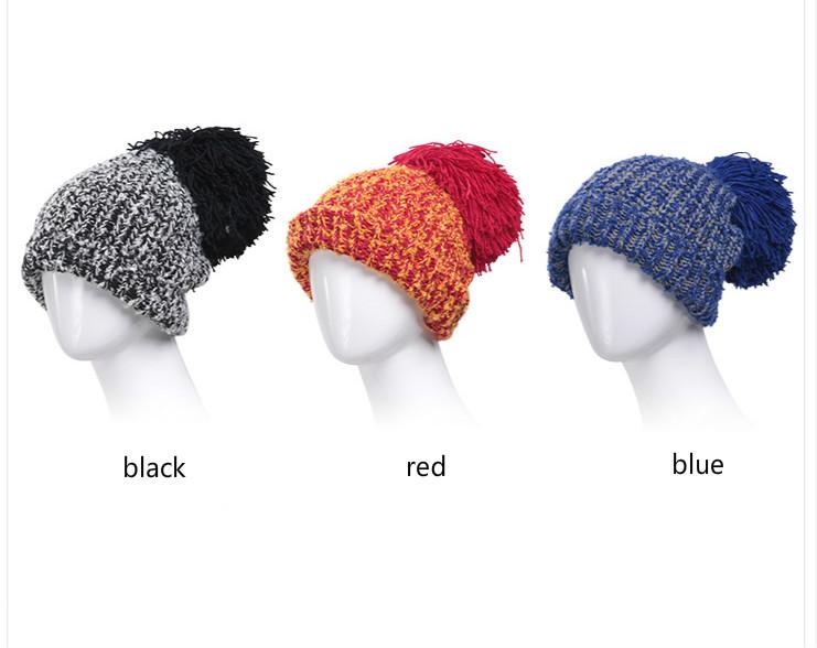 っBomhcs moda color bola Nagymaros mujeres invierno cálido ganchillo ...