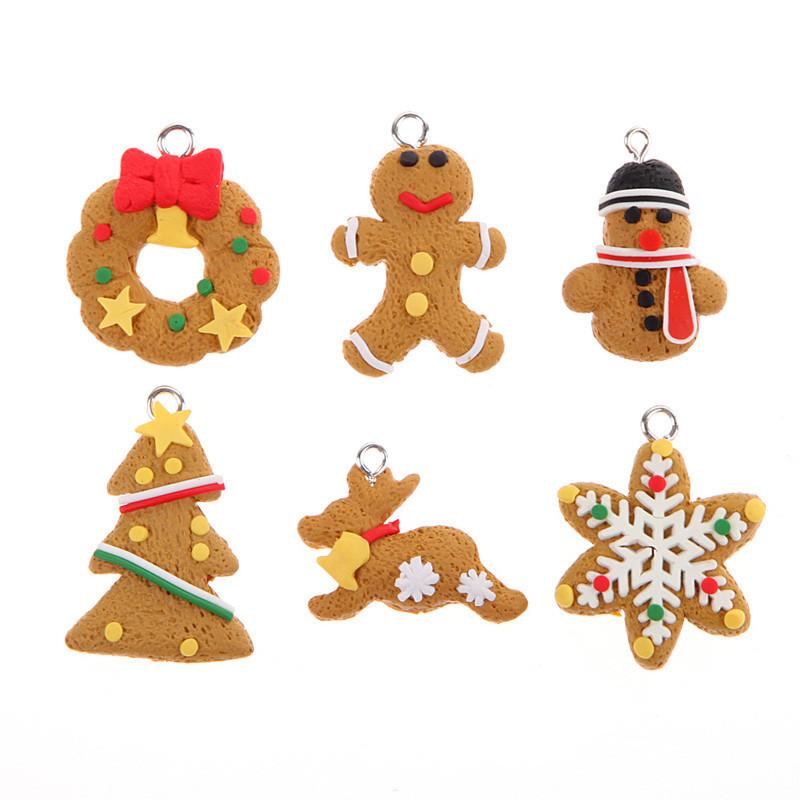 ჱModa nueva llegada 6 unidades Navidad árbol colgante Navidad ...