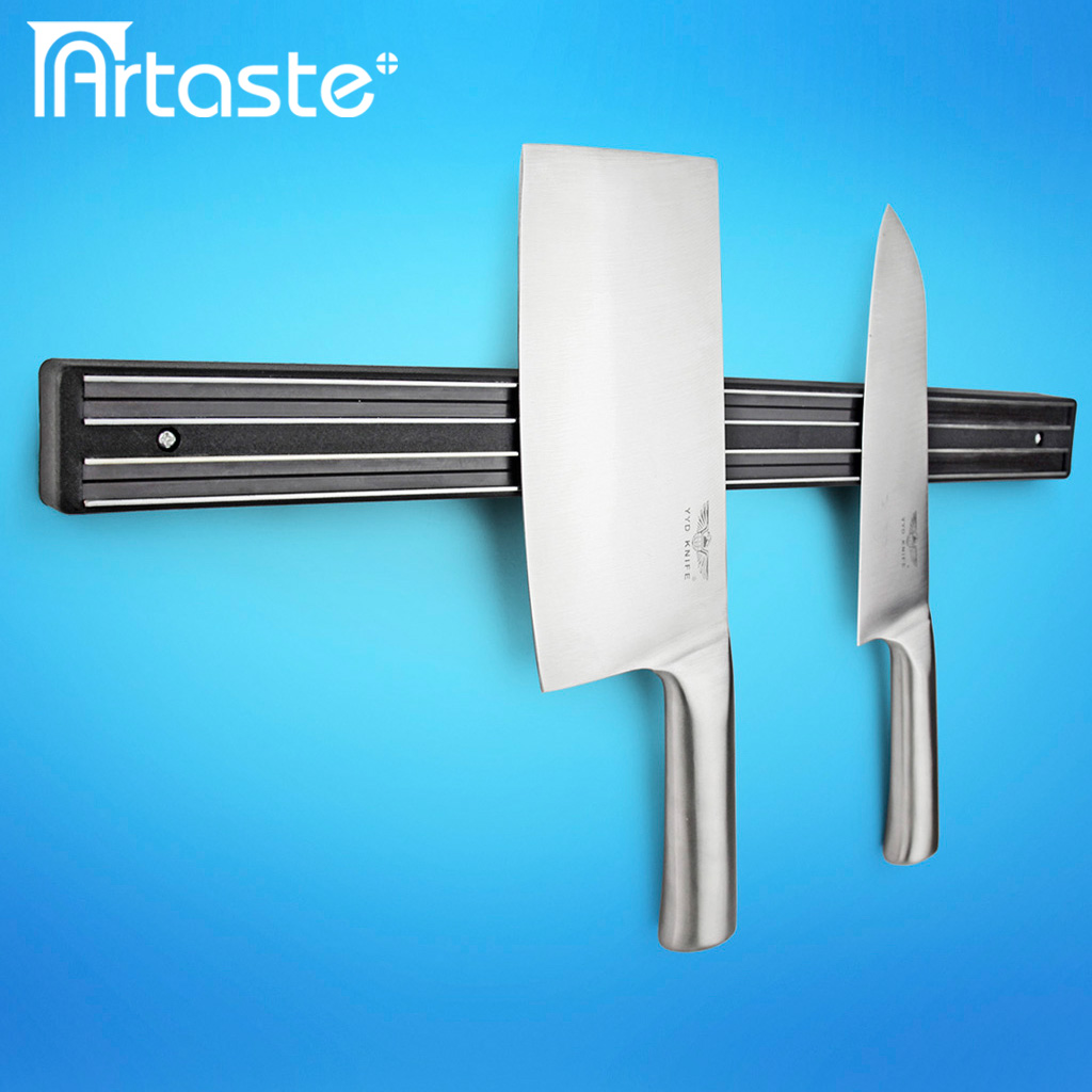 magnetic kitchen knife holder kemper cabinets supplies wall mounted stainless steel