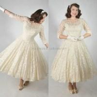 Popular Cream Tea Length Dress-Buy Cheap Cream Tea Length ...