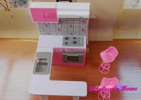Pink & White Cabinet Set / Dollhouse Kitchen Cookhouse ...