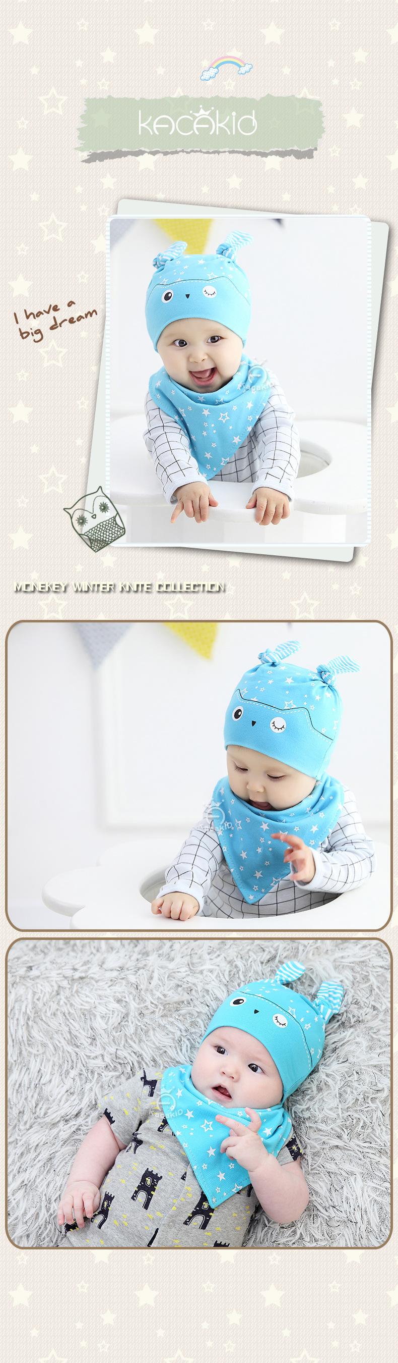6-24 m 2018 estrella búho patrón bebé sombrero recién nacido gorros ...