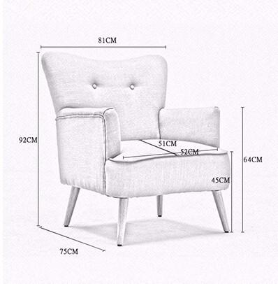 ᐊModerno sillón silla de madera pierna Muebles para el hogar Sillas ...
