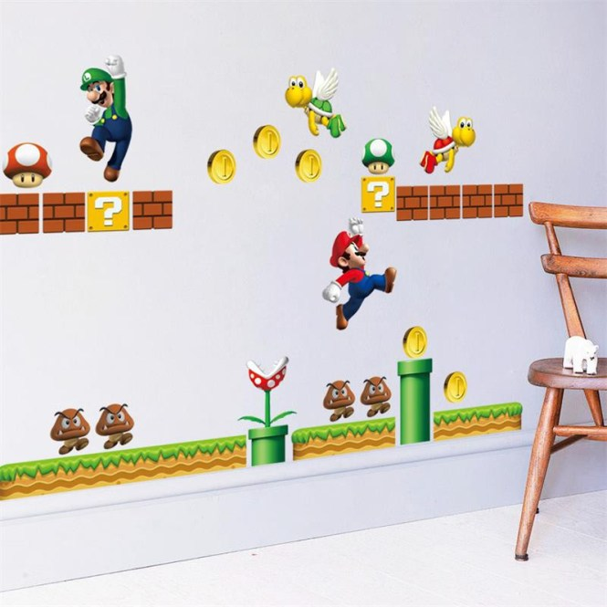 Get Quotations Middot Wall Decoration Stickers Home Decal Decor Super Mario Game Happy Cute Ay7062 50