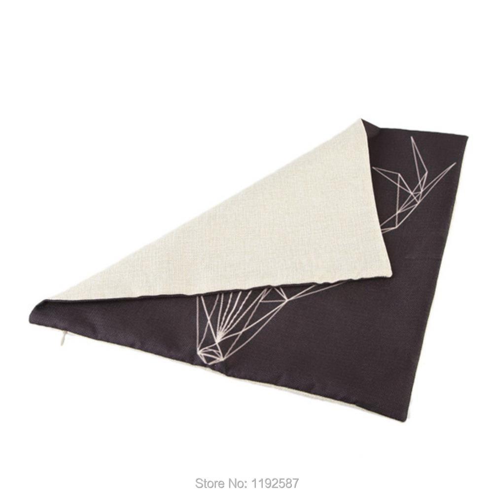 ᓂNueva creativa Navidad regalo Nordic Deer triángulos patrón cojín ...