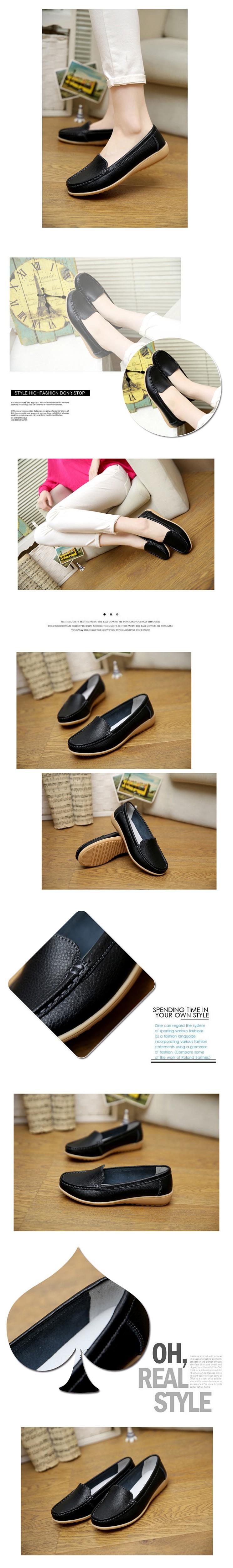 58b75ff9f ▻2016 Novos das Mulheres sapatos de Couro Genuíno Da Senhora de ...
