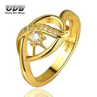 Women Ring AAA Zircon Stone 18K 24K Real Yellow Gold ...