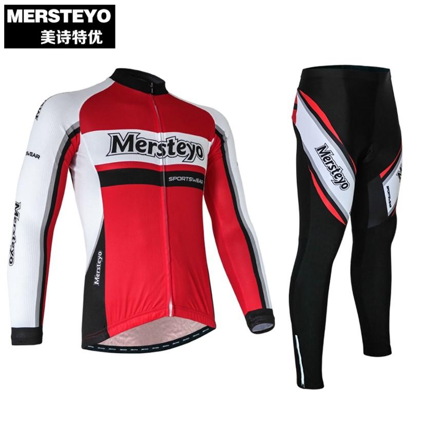 c9d4567d2d ᗐMersteyo Vermelho Homens Ropa ciclismo Pro Roupas de Ciclismo ...