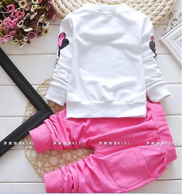 Delle Neonate Vestiti Set T-shirt + Pants ... Svegli Minnie Infantile del  Cotone Vestiti Coat + T ...Set nuovissimo della fascia ... cd110640860