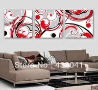 Red Wall Art Decor - popular items for red flower wall art ...