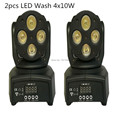2pcs lot Fast Shipping LED Moving Head Mini wash 4x10w RGBW Quad with advanced 9 12