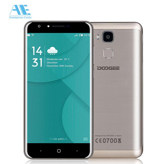 Original Doogee Y6C Quad Core MT6737 Android 6.0 Smartphone 5.5 Inch 2GB RAM 16GB ROM 3200mAh Fingerprint 4G LTE Mobile Phone