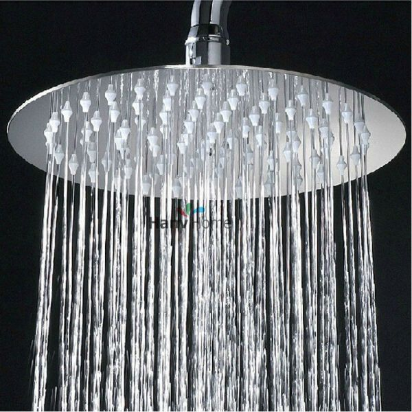 High Quality 8 10 12 Chrome Stainless Steel Ultra Thin Shower Heads Rainfall