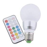 RGB LED Lamp E27 7W LED Spot Light With Timer Switch ...