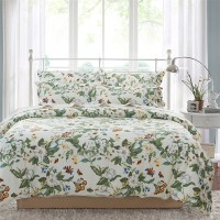 Beige Green Floral Bedding Sets Full/Queen Size Bed,4 pcs ...