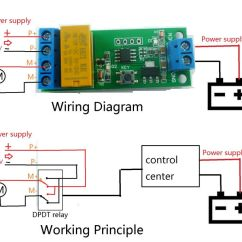 Dpdt Relay Wiring Diagram Solar Battery 5v~12v Dc Motor Reverse Polarity Cyclic Timer Switch Time Repeater Delay [ce032] - Usd $4 ...