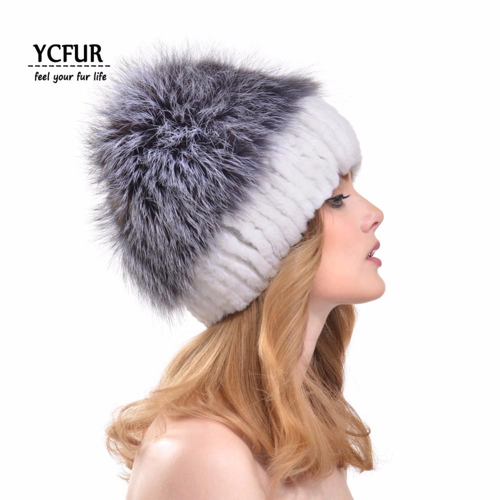 Donne di Modo YCFUR Cappelli Berretti Inverno Caldo Molle Del ... 6c98a24ae793