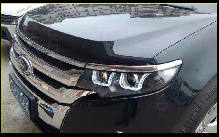 Car Styling For Ford Edge Headlight Assembly Edge Limited Led Headlight Drl Lens Double Beam H With Hid Kit Pcs
