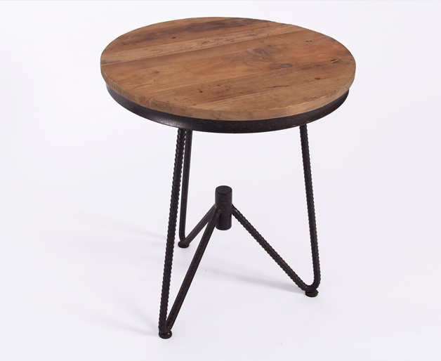 American antique furniture, wrought iron table and corner