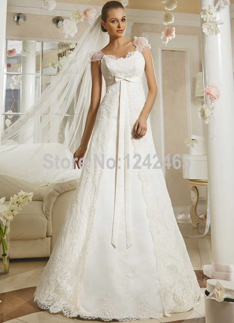 High End Customized Luxury Wedding Dresses A Line Elegant