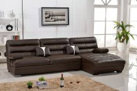 Lizz Furniture Leather Curve Sofa .Leather corner L shape ...