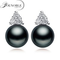 Aliexpress.com : Buy 100% genuine black pearl earrings for ...