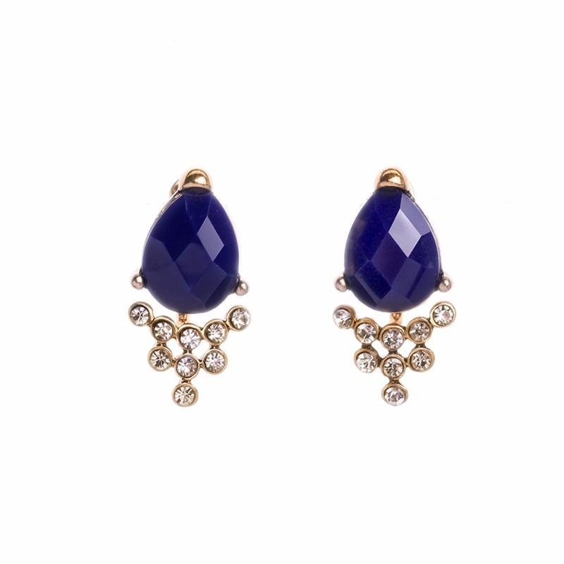 8//10//12mm naturel bleu lapis lazuli ronde Gems Silver Leverback Dangle Earrings