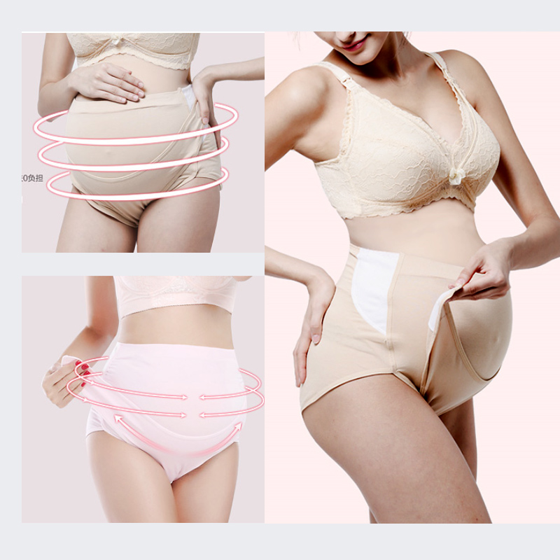 b7aa7ba18183 SMDPPWDBB bragas de maternidad ajustadas sin algodón para mujeres  embarazadas ropa interior bragas de cintura alta ropa íntima de embarazo