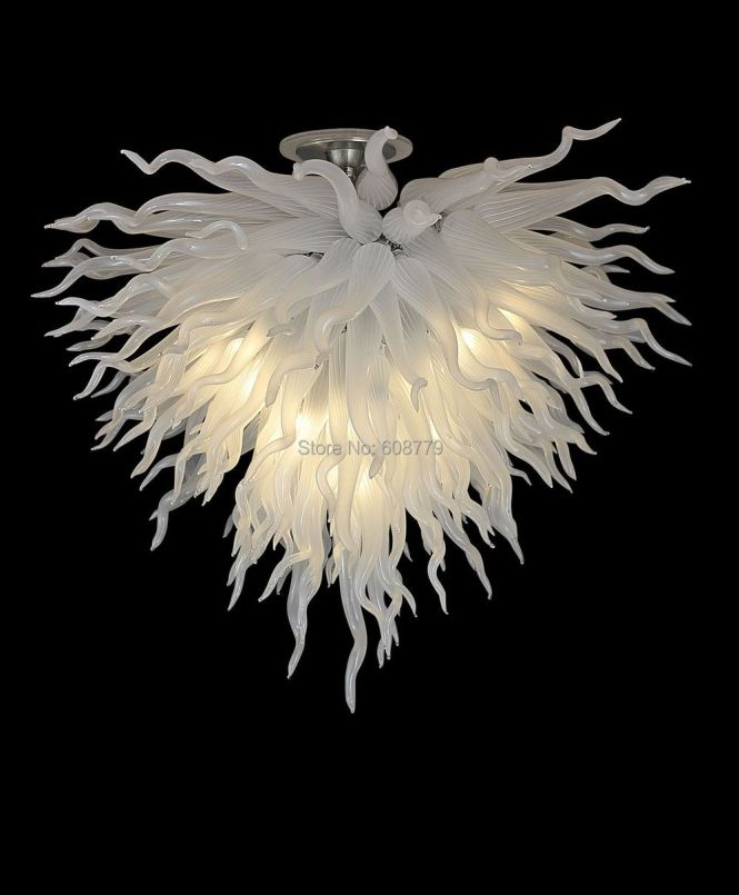 Free Shipping Elegant Home Lighting White Chihuly Style