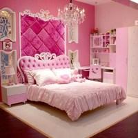 European Style MDF Pink Princess Girl 4pcs Bedroom ...