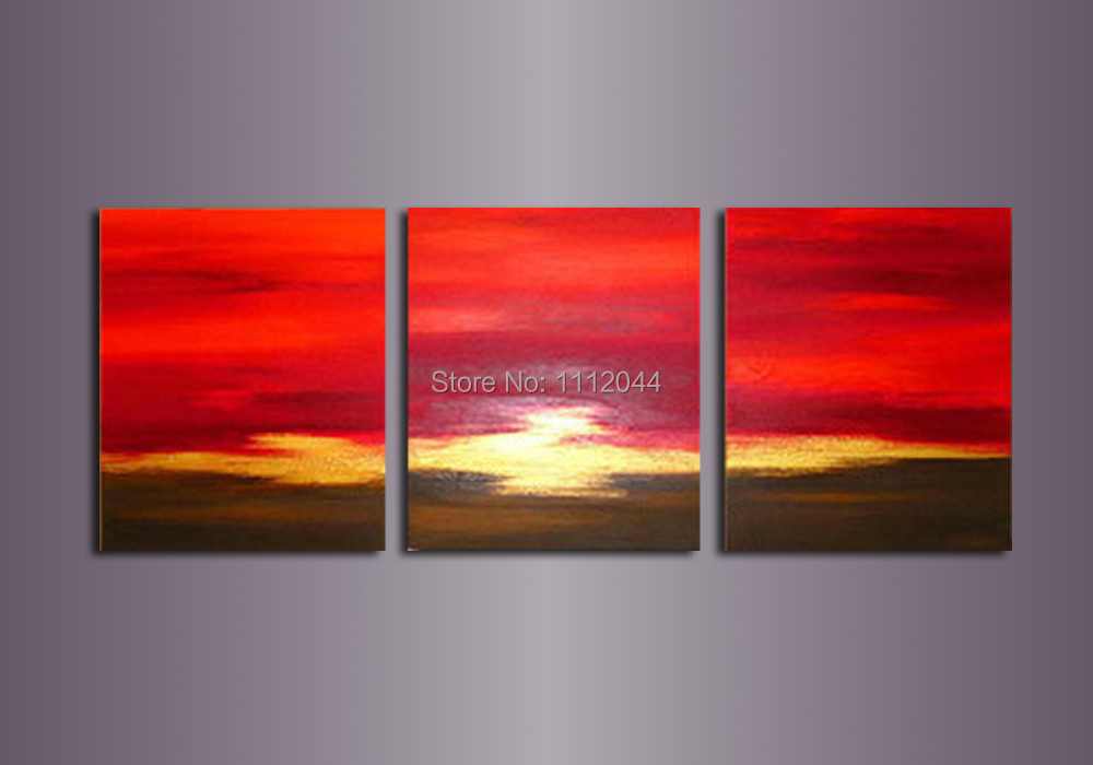 High Quality 3 Piece Oil Painting Abstract Canvas Art Sets