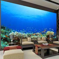 Large Size Custom wallpaper Ocean Coral Photo Wallpaper ...