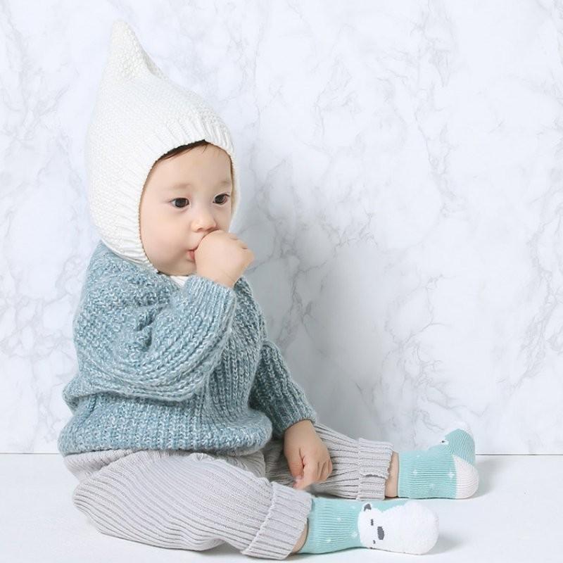 ᐅNiño lindo bebé niña oso pingüino patrón coral terciopelo grueso ...