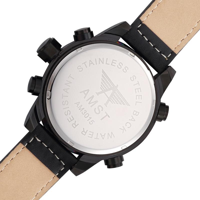 31646805086 ᗔAMST Ao Ar Livre relógios de Pulso de Couro Genuíno Relógios ...